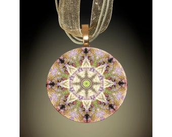 Unique Jewelry Mother/'s Day Gift Glass Necklace Jewelry Gift For Her Handmade Art Pendant Mandala Jewelry Pendant