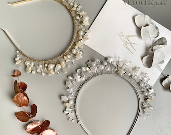 Luna Moonchild Boho Headpiece  Celestial Moon Crown Moody Crystal Crown Gifts for her Quartz