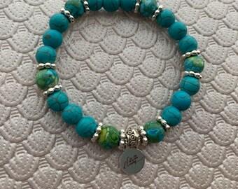 Turquoise Howlite Stone Bracelet