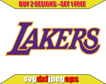 6365b3d0bb6ae Los-angeles-lakers logo Svg/ Files for Cricut/ silhouette/ Digital Cut  File/ Svg/ Dxf/ clipart/ Instant Download/