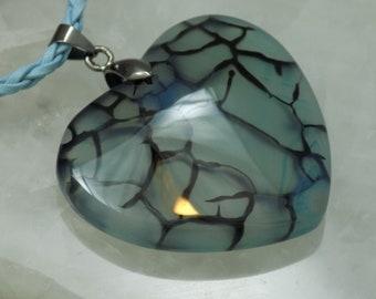 White Stone Pendant Stone Heart Pendant Heart Aqua Green 54mm Dragon Veins Agate Pendant 54x36x7mm Natural Stone