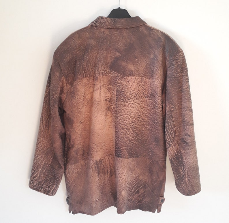 1990/'s vintage leather overcoat by Fidan Izmir Turkish sustainable leather responsible leather