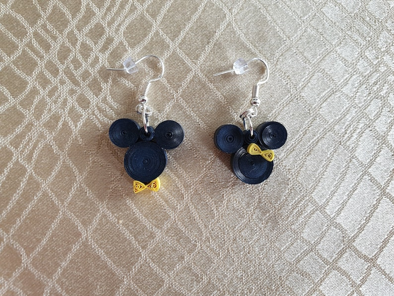 Mickey And Minnie Mouse EarringsDisney Earrings Quilling 2.5 cm
