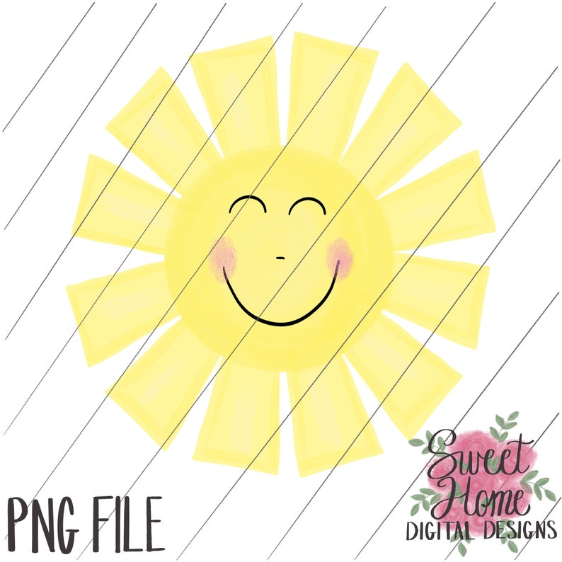 Stupendous Sunshine With A Smile Happy Png For Sublimation Or Printing On Inkjet Transfer Clipart Digital Download Download Free Architecture Designs Scobabritishbridgeorg