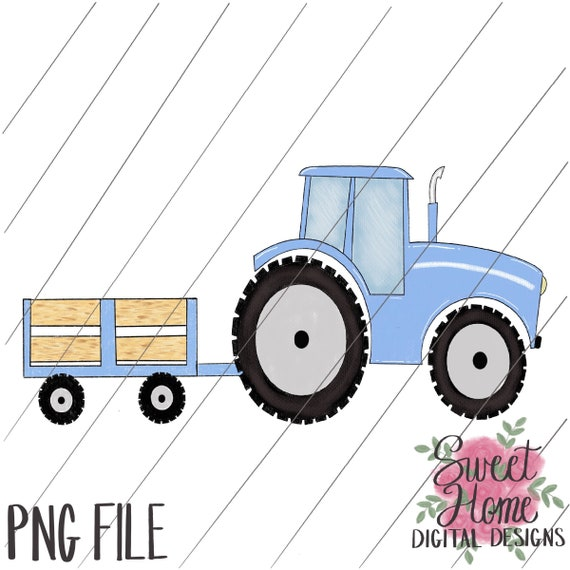 Blue Tractor Clipart - Free Transparent PNG Clipart Images Download