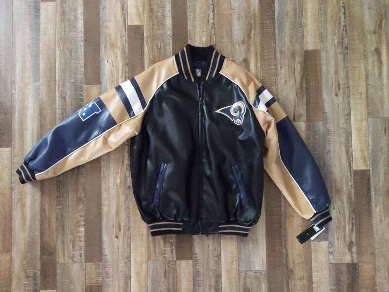 67fe4b77 St Louis Rams leather jacket
