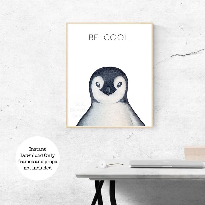 photo relating to Penguin Printable named Penguin Printable Wall Artwork