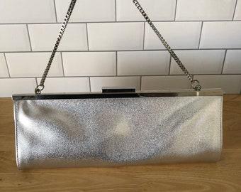 Vintage Silver Clutch Handbag