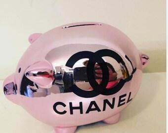 CHANEL inspired saving box piggy bank 9dcb9a50377c