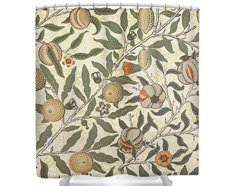William Morris FRUIT BIRD POMEGRANATE Shower Curtain