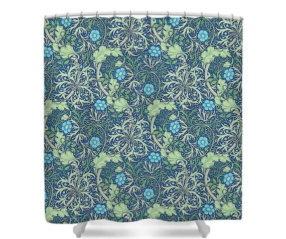 William Morris SEAWEED Thyme Shower Curtain