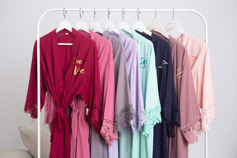 Bridal Party Robes Bridesmaid Robe Bridesmaid Dressing Gown Wedding Dressing Gown Bride Robe Childrens Robes