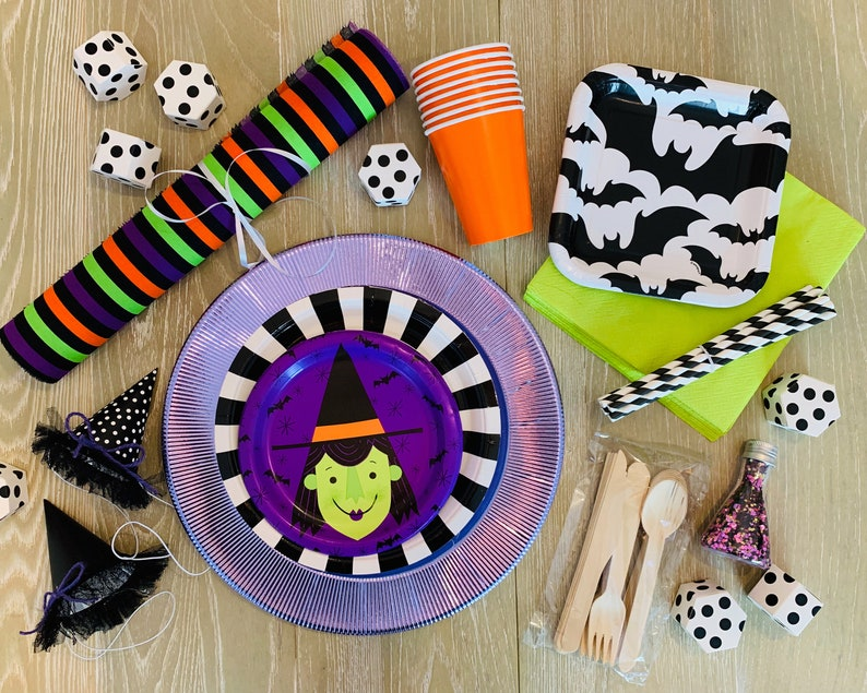 Halloween Witch Party Tableware Bundles