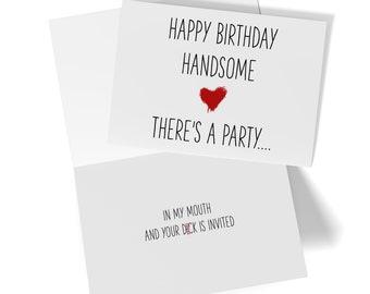 I LOVE YOUR DICK HAPPY BIRTHDAY BTW-RUDE FUNNY NAUGHTY CARDS LG HUSBAND BOYFRIE