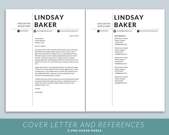 Modern Resume Template, Executive CV Template