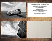 "5series Postcard Set ""Airplane Frack Island / Abandoned Plane Wreck Iceland"" Iceland Photo, Motif and Greeting Cards"