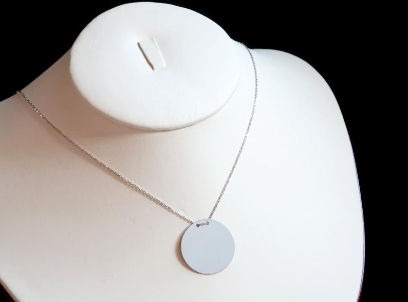 Solid 925 Sterling Silver,Simple Dainty Necklace,Delicate Necklace,Disc Coin Necklace,Circle Disc Necklace,Layering Necklace,charm Sale