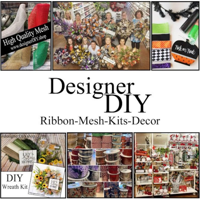 checked ribbon craft bow wreath ribbon summer plaid ribbon Multi colored plaid ribbon patterned ribbon 1.5 Spring Plaid Wired Ribbon