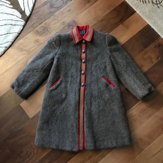 Sweet 1950s Nordic Teddy Bear/Faux Fur Coat with W