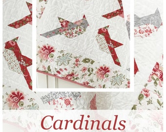 CARDINALS Quilt * A  Layer Cake (10 x 10) Friendly Quilt Pattern* By: Margot Languedoc For- The Pattern Basket  #TPB1905