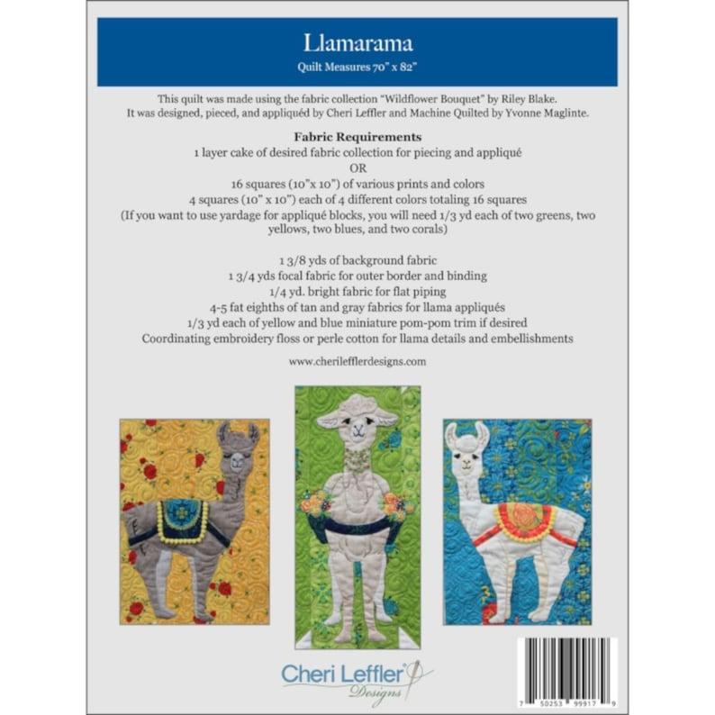 Cheri Leffler Designs LLAMARAMA Quilt Pattern By