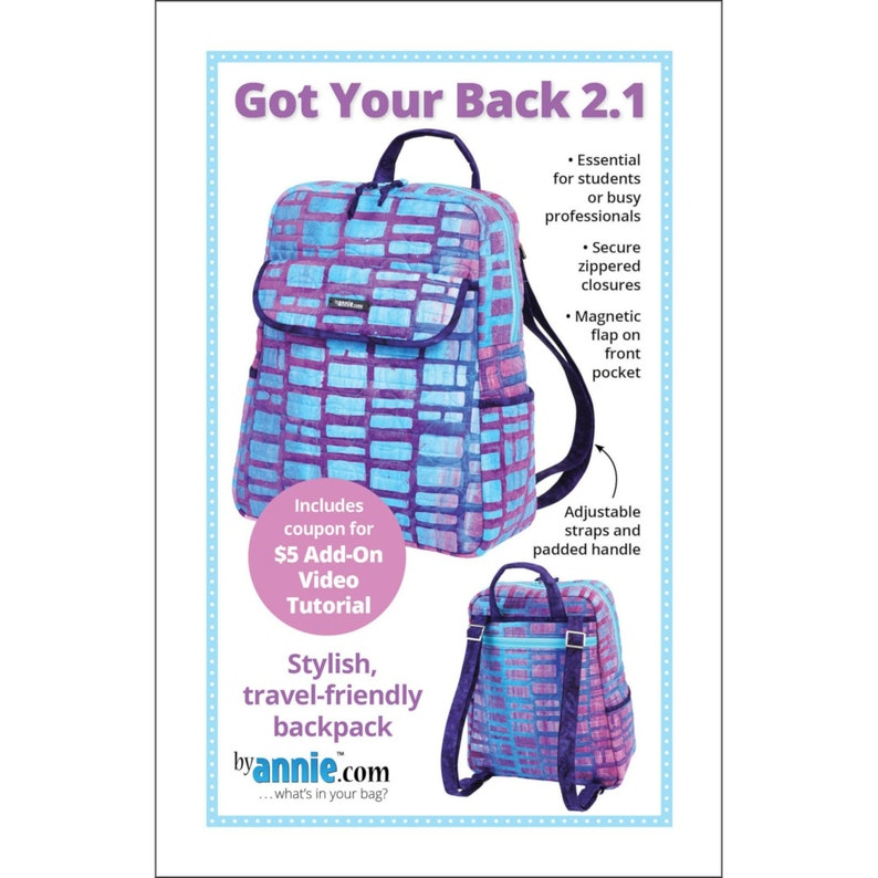 GOT Your BACK 2.1 Backpack Pattern By: Annie image 0