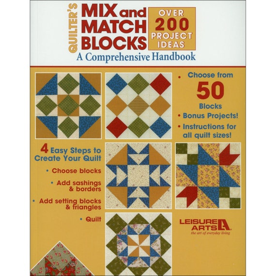 Mix And Match Blocks Quilt Pattern Book By Leisure Arts