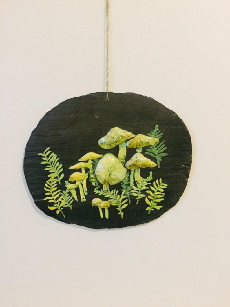 Handmade Mushroom Wall Slate