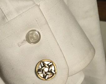 mens or unisex occult cufflinks Pentagram cufflinks for the Man-Witch Cufflinks wiccan cufflinks