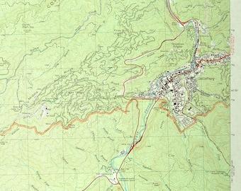Gatlinburg Map Etsy