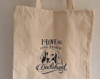 Dog Breed Inspired Canvas Tote Shopping Bag