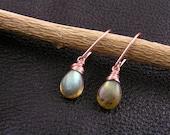 Labradorite Earrings, Earrings Handmade, Rose Gold Earrings, Rose Gold Jewelry, Wire Wrapped Earrings, Labradorite Jewelry, E2112a