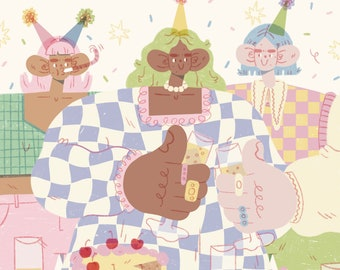 Lets party!! - A6 Greeting card