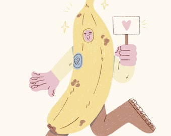 I'm bananas for you! - A6 greeting card