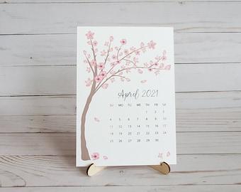 Stand Up Desk Calendar 2021 2021 desk calendar | Etsy
