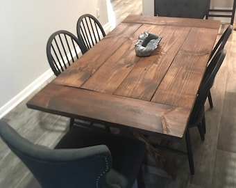 Farmhouse Dining Table Etsy