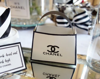 59c0732c21efe7 Chanel Party Favor Bags and Placecard Printables