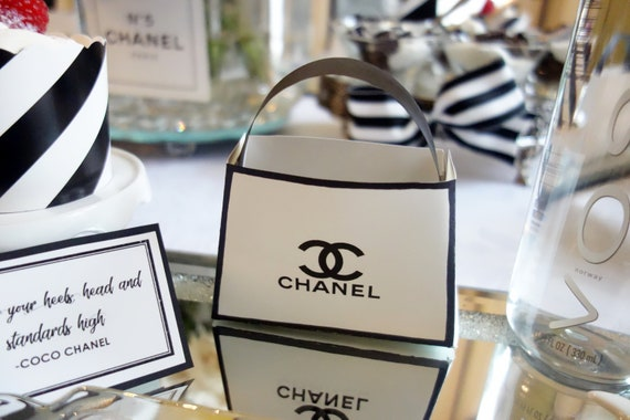 6672fb5fdbec51 Chanel Party Favor Bags and Placecard Printables by Pretty Fun ...