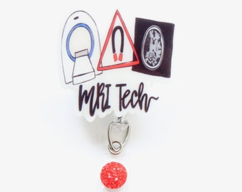 Glow in the Dark MRI Technologist Badge Reel