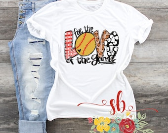 73d2353e For The Love Of The Game T-Shirt/Unisex Softball Lover Tee/Softball T-Shirt/ Softball