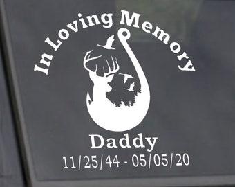 In Loving Memory Decals, Vinyl Car Decal, In Loving Memory Car Decal/In Loving Memory Hunting Memorial Decal, Car Decal, In Loving Memory of