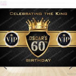 vip banner 50 birthday decor birthday for him vip backdrop celebrating the king 50 birthday banner king backdrop 40 50 60 birthday