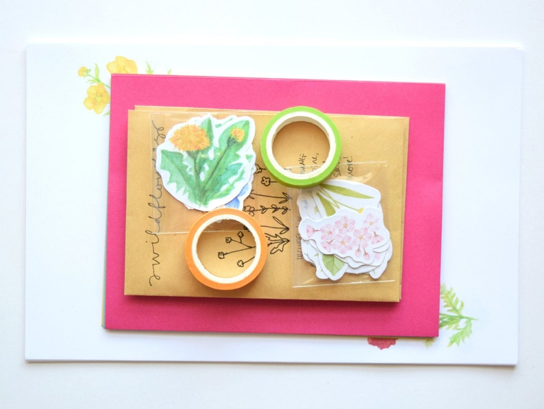 Wildflower Snail Mail Kit Letter Writing Set Themed Snail image 0