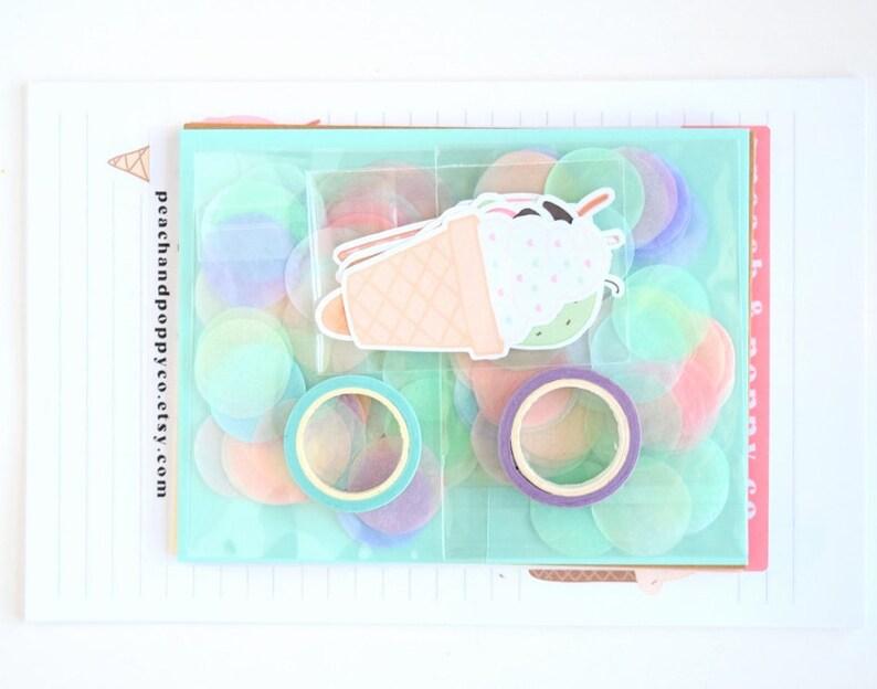 Ice Cream Snail Mail Kit Letter Writing Set Stationery Set image 0