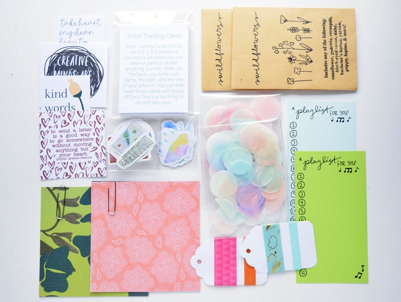 Creative Snail Mail Kit Flat Goodies For Pen Pals Happy Mail image 0