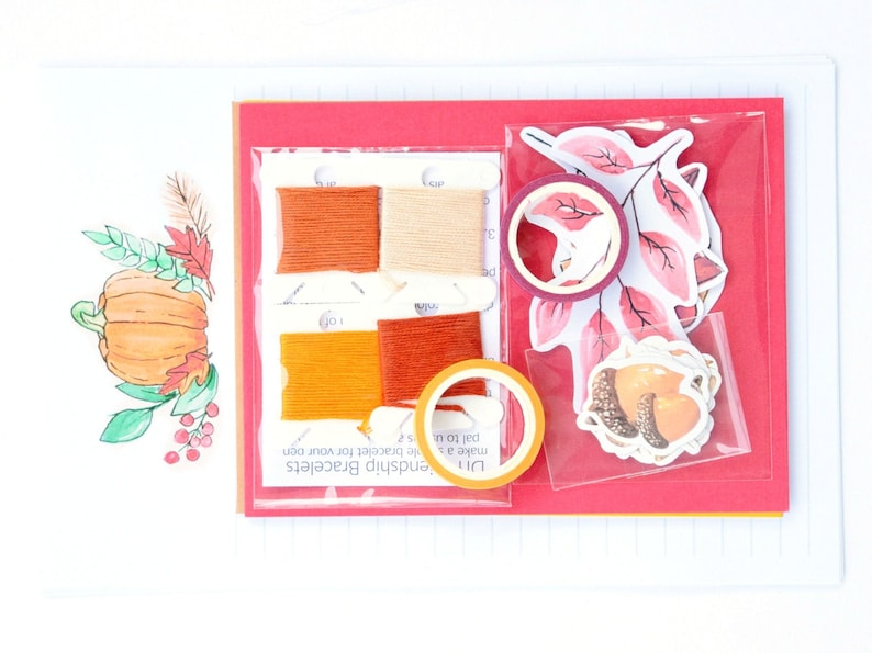 Fall Snail Mail Kit Autumn Letter Writing Set Stationery image 0