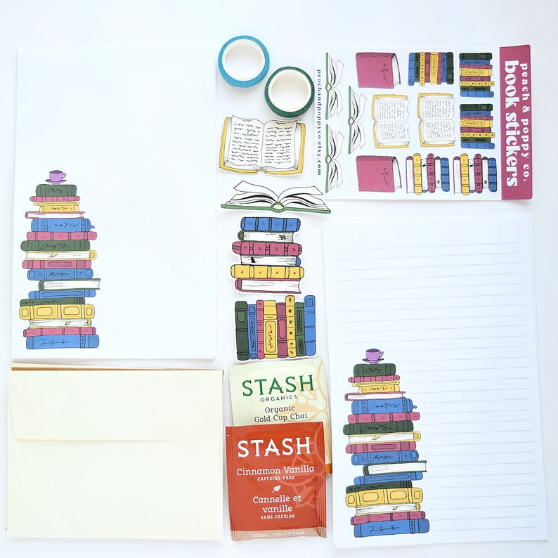 Book Snail Mail Kit Letter Writing Set Stationery Set image 0