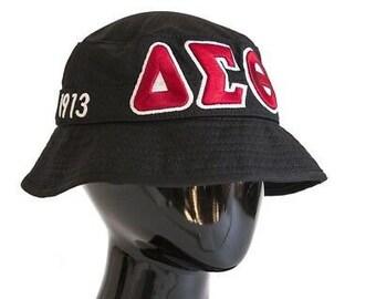 388f90a20dc Delta Sigma Theta Black Bucket Hat
