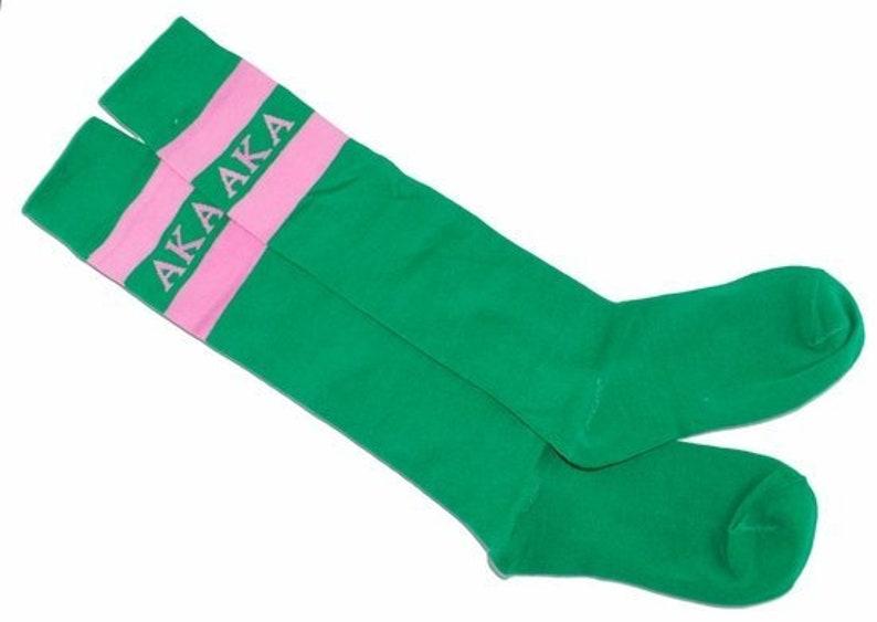 Alpha Kappa Alpha Knee Hi Socks