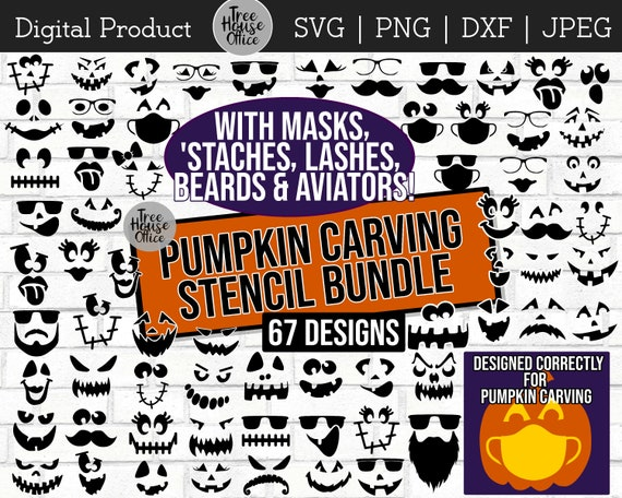 Pumpkin Carving svg Jack O Lantern Faces SVG Pumpkin Faces